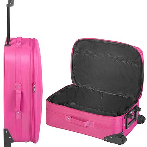 Argos 'Go explore' pink suitcase. As found in a skip by Sherlock ...