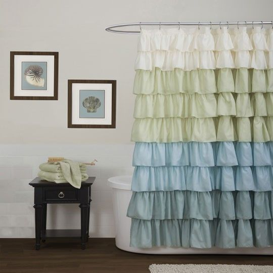 Ruffle Multi Shower Curtain At Anna's Linens