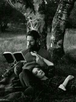 A gentleman style reading books with his life