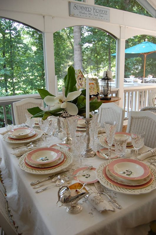 Bridal Shower or Mother's Day Setting: Happy 100th Tablescape Thursday