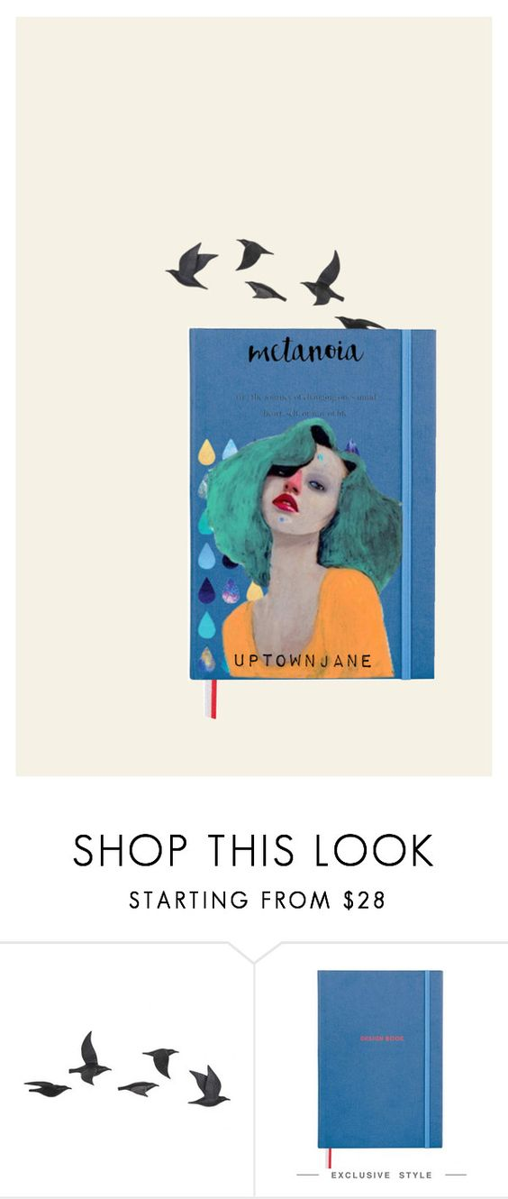 """""""SHT HAPPENS"""" by uptownjane ❤ liked on Polyvore featuring Jayson Home and diybookcover"""