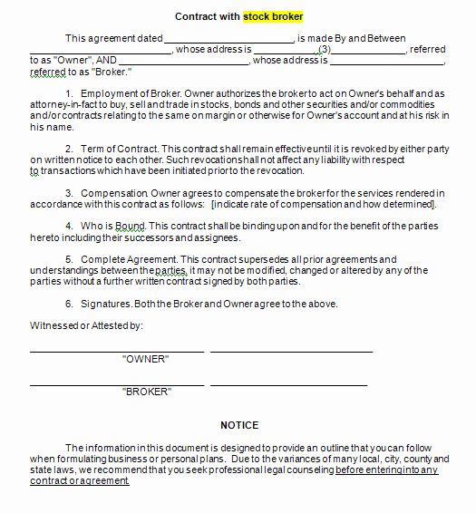 Business Broker Agreement Template