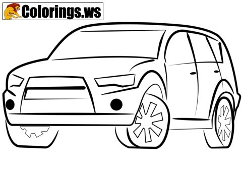 Car 01 Car Coloring Pages In This Coloring Page You Can Color