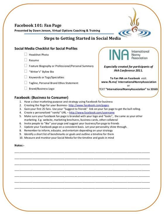 Facebook 101 Handout for 2010 Session for INA - ina-facebook-handout by Dawn Jensen via Slideshare