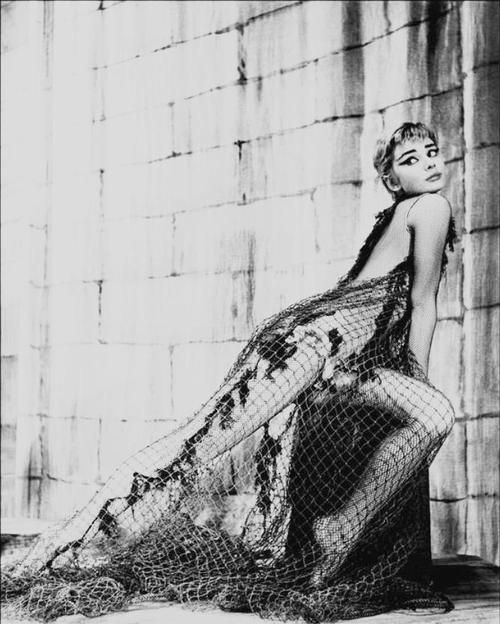 Audrey Hepburn on stage during the theatre production Of Ondine, 1954.