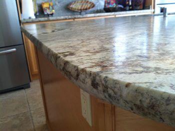 edge countertop edge profile. Also known as panoramic or crescent edge ...