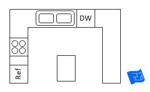 Would a g shaped kitchen be better than this u shaped for Kitchen designs 3m x 4m