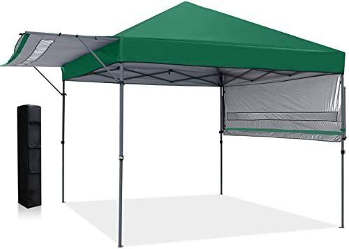 Buy Mastercanopy Pop Up Canopy Tent 10x10 Instant Canopy Adjustable Dual Half Awnings Creat 166 Square Feet Shade Coverage Sandbags X4 Tent Stakes X8 Forest In 2020 Canopy Tent Pop Up Canopy Tent Instant