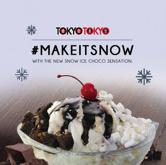 Experience a creamy and luscious treat, topped with irresistible chocolate. Indulge for free, when you join the #MakeItSnow Twitter promo. Visit the Facebook App http://on.fb.me/1nSA2Kq to learn how you can win this treat, and the other Snow Ice flavors, for free. #smcitymanila