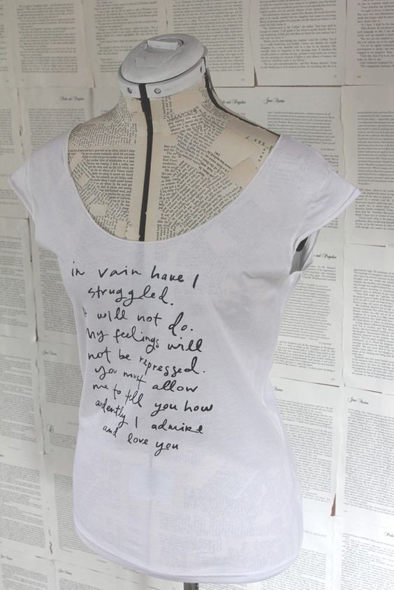 Mr Darcy Proposal shirt....where have you been?!