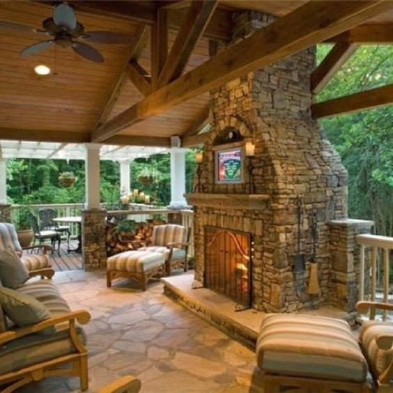 :): Back Porch, Outdoor Room, House Idea