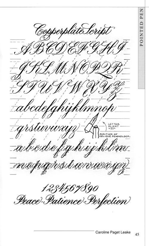 Técnicas de caligrafía calligraphy techniques