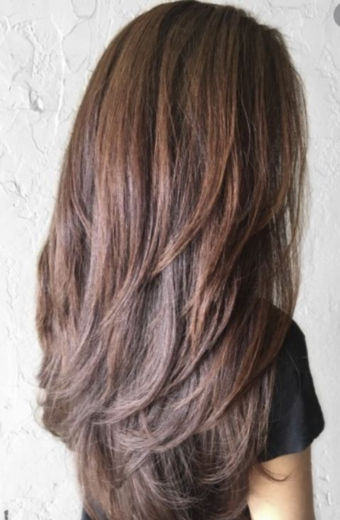 13++ Long layers for thick straight hair trends