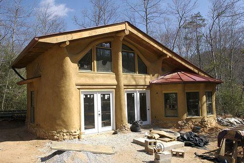 Straw Bale House Construction WM Maison paille, Maison en paille - maison bois et paille