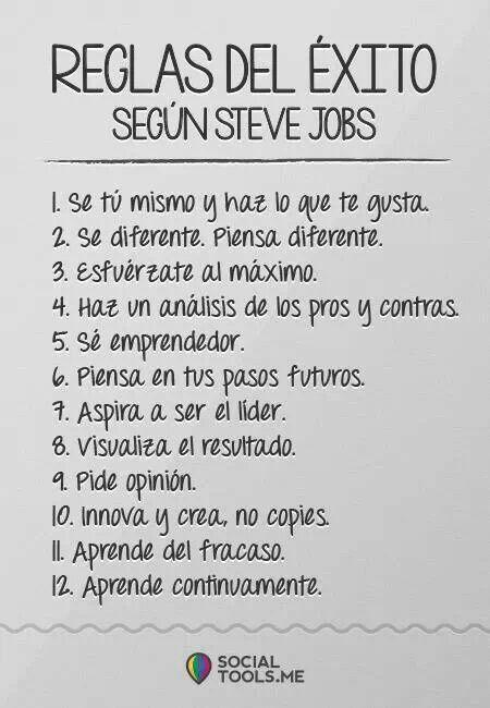 Steve Jobs es un gran empresario y emprendedor creo que podemos aprender mucho de él.
