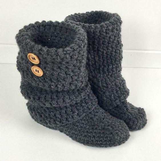Free Crochet Ladies Slipper Boot Patterns : Pinterest The world s catalog of ideas