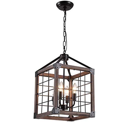 12 4 Light Cube Wood Metal Pendant Lamp Light Fixture Wi Https Www Amazon Com Dp B07x4zp7ml Ref Cm Sw R Pi Dp U Metal Pendant Lamps Cube Light Lamp Light