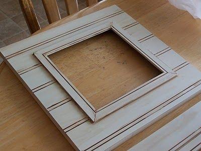diy beadboard frames