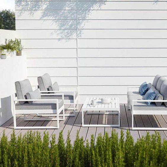 Gotowy Zestaw Mebli Tarasowych Blooma Bennet Aluminium Gotowe Zestawy Meblowe Meble Ogrodowe Meble I Dekoracje Outdoor Furniture Outdoor Chairs Outdoor