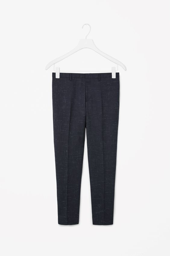 COS | Melange checked trousers