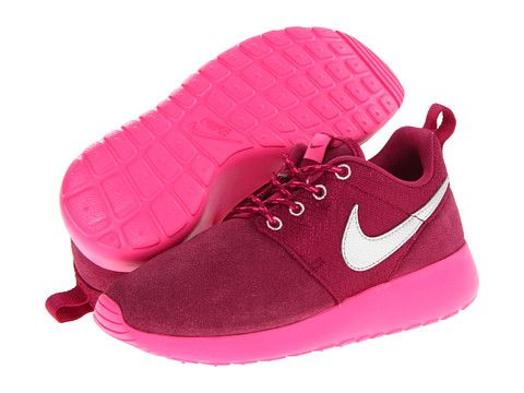 pbxlxh Nike Kids Roshe Run (Little Kid/Big Kid) Raspberry Red/Pink Foil