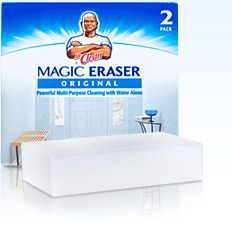 I can't say enough about this product--I use my magic eraser for everything (walls, dishes, my car...).  Most recently, I scoured my laptop and it looks like new! Also whitening tennis shoes and cleaning soap scum off showers.