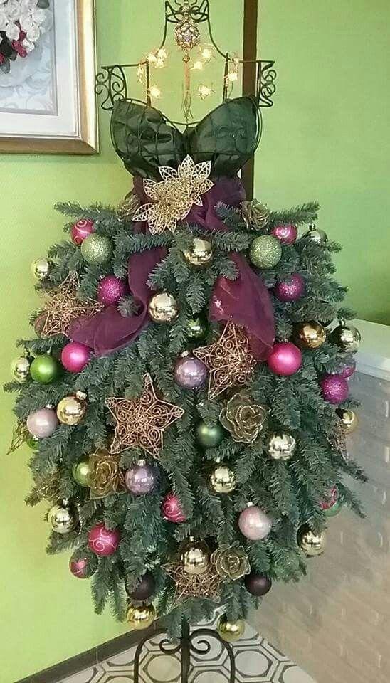 Christmas Mannequin Dress Christmas Tree Dress Mannequin Christmas Tree Maniquin Christmas Tree