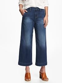 Cropped Hi-Rise Wide-Leg Jeans for Women