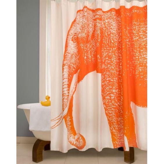 Thomas Paul Elephant Shower Curtain