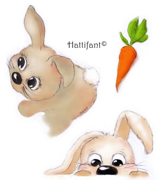 Hattifant bunny illustration
