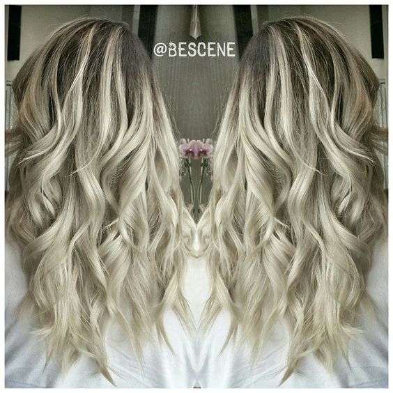 ASH BLONDE BALAYAGE OMBRE All Colors Are Schwarzkopfusa I Balayage With Sc