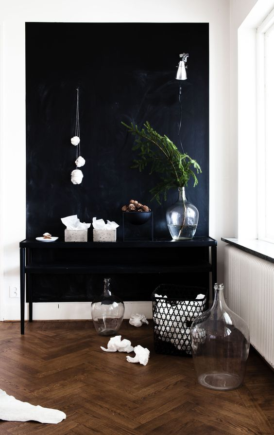 block of black - great feature wall