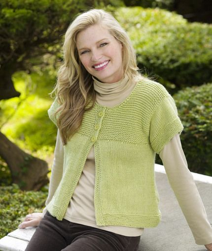 Knit A Simple Sweater : Simple spring swing cardigan knitting pattern red heart