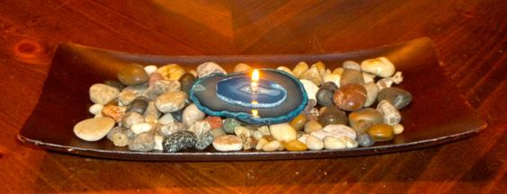 Double Stack Blue Brazilian Agate Refillable Oil by graniteaccents, $29.00