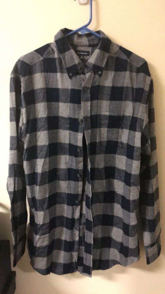 Croft Barrow Men S Flannel Shirt Size Medium Soft 100 Cotton