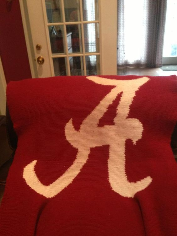 Alabama University Afghan (pattern designed by Chella Crochet)