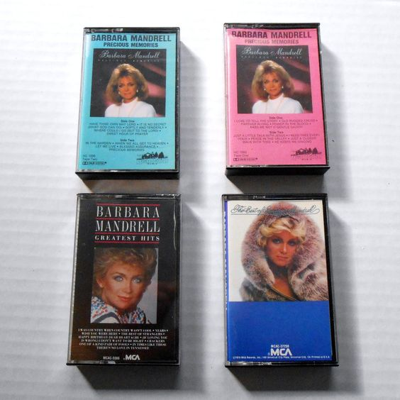 Lot of 4 BARBARA MANDRELL Cassette Tapes Precious Memories 3 Used 1 New  #CountryPop