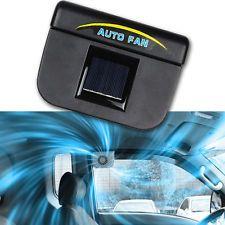 Solar Power Auto Car RV Window Cooling Air Fan Vehicle New Free Ship Cooler Sun