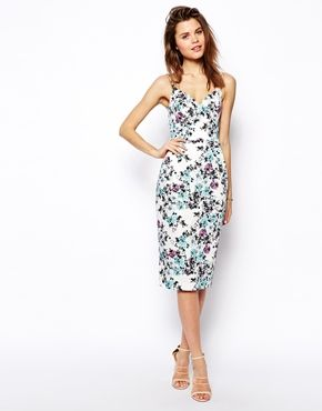 ASOS Floral Print Hitchcock Dress -for wedding in Puerto Rico