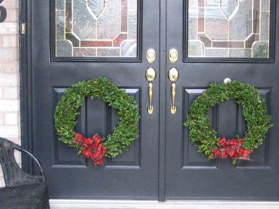 Fresh Boxwood Wreaths for Front Door