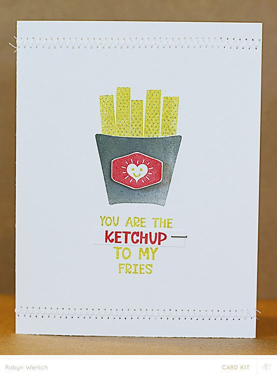 You are the Ketchup! by RobynRW at @studio_calico - stamped card