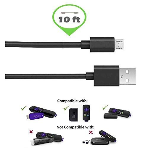 Roku Micro Usb Power Adapter With Usb Cable For Roku Streaming Stick Roku Express And Roku Premiere Streaming Stick Roku Streaming Stick Usb