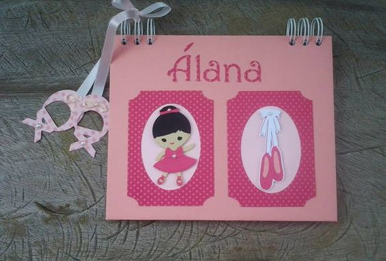 Caderno personalizado no tema de bailarina. super fofo!