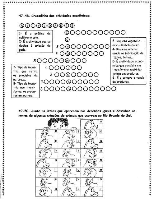Portal Escola Atividades Sobre Historia E Geografia Do Rio Grande