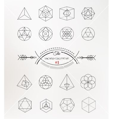 sacred geometry alchemy spirituality icons on vectorstock. Black Bedroom Furniture Sets. Home Design Ideas