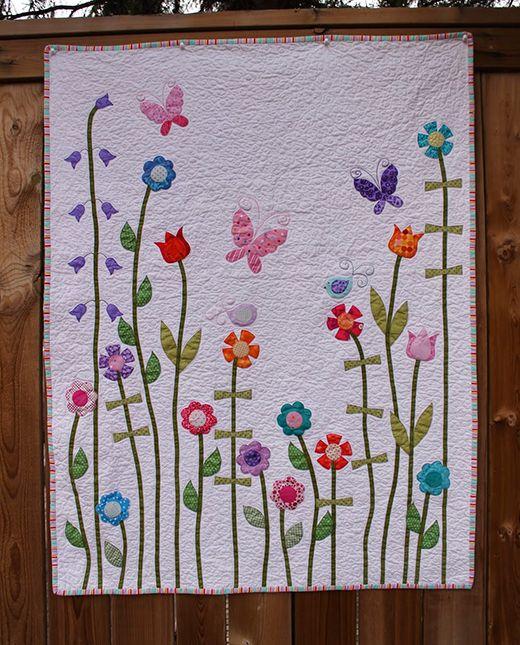 Baby Girl Flower Applique Quilt Applique Quilt Patterns Flower Quilt Patterns Applique Quilts