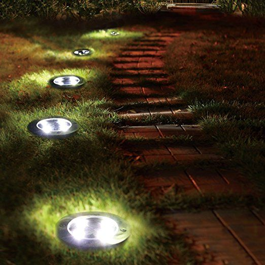 Solarleuchten Garten 4 Stuck 5 Led Wasserdichte Solar Bodenstrahler Dunkel Sensorik Landschaftslichter Outdoor Solar Lights Solar Lights Garden Outdoor Solar