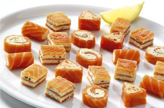 smoked salmon canapes food gt and finger food smoked salmon frozen and
