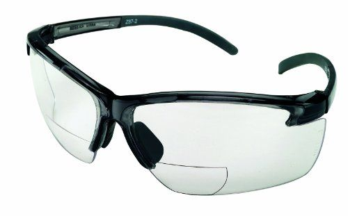 MSA Safety Works 10061646 Bifocal Safety Glasses, 2.0 Diopeter
