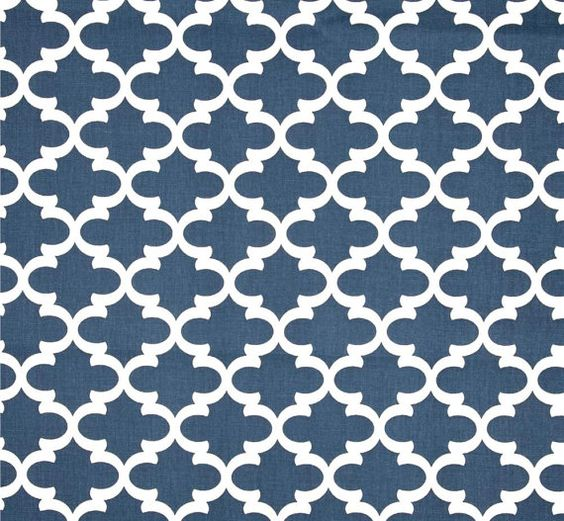 navy blue white modern geometric home decor fabric by the yard 54 cotton